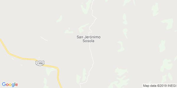Mapa de SAN JER�NIMO SOSOLA