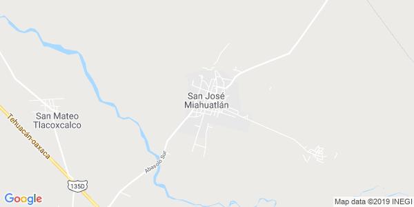 Mapa de SAN JOSÉ MIAHUATLÁN