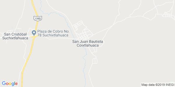 Mapa de SAN JUAN BAUTISTA COIXTLAHUACA