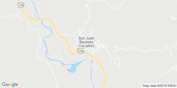 Mapa de SAN JUAN BAUTISTA CUICATL�N