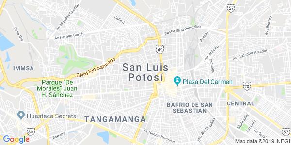 Mapa de SAN LUIS POTOSÍ