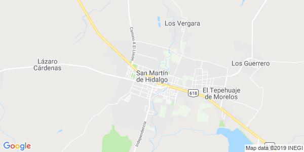 Mapa de SAN MART�N HIDALGO