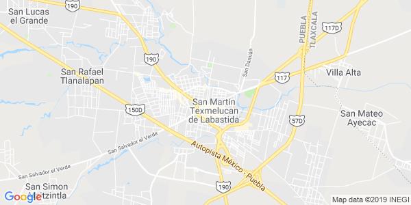Mapa de SAN MARTÍN TEXMELUCAN