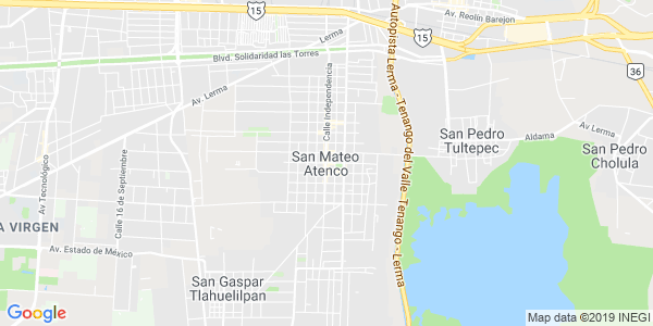 Mapa de SAN MATEO ATENCO