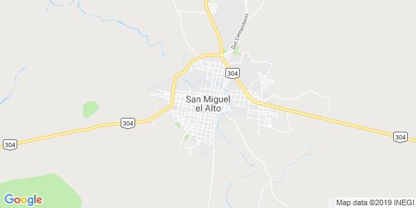 Mapa de SAN MIGUEL EL ALTO