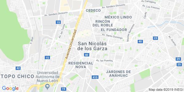 Mapa de SAN NICOLÁS DE LOS GARZA