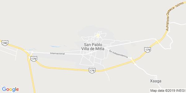Mapa de SAN PABLO VILLA DE MITLA