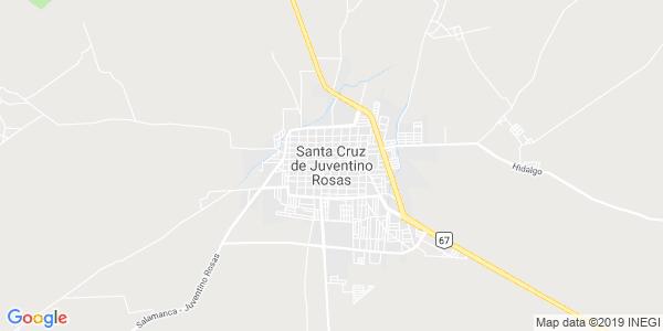 Mapa de SANTA CRUZ DE JUVENTINO ROSAS