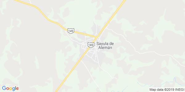 Mapa de SAYULA DE ALEMÁN