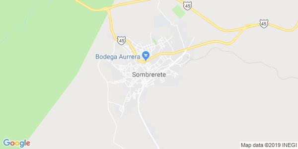 Mapa de SOMBRERETE