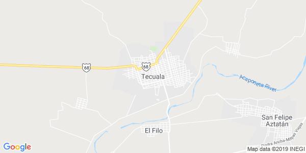 Mapa de TECUALA