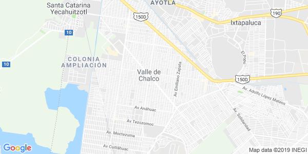 Mapa de VALLE DE CHALCO SOLIDARIDAD