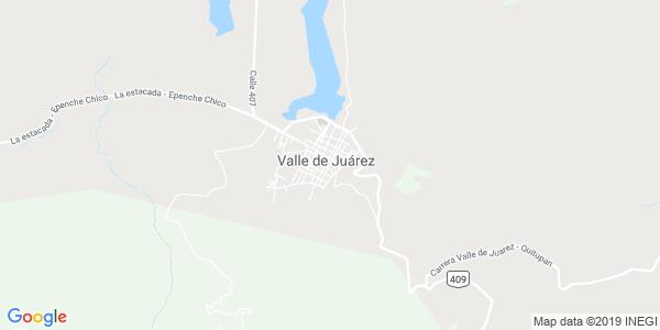 Mapa de VALLE DE JU�REZ