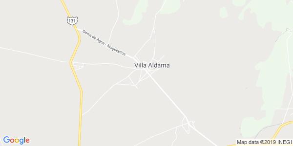 Mapa de VILLA ALDAMA
