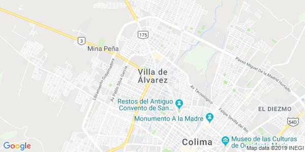 Mapa de VILLA DE �LVAREZ