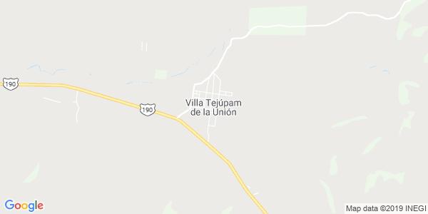 Mapa de VILLA TEJUPAM DE LA UNION