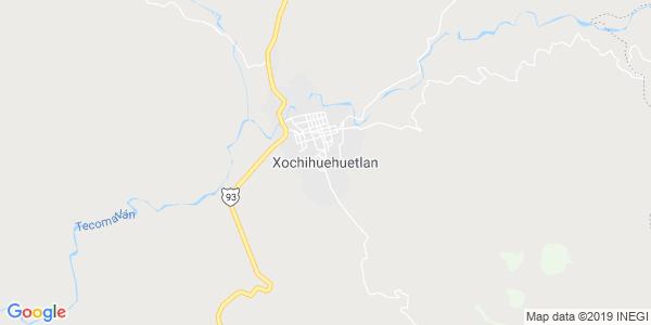 Mapa de XOCHIHUEHUETLÁN