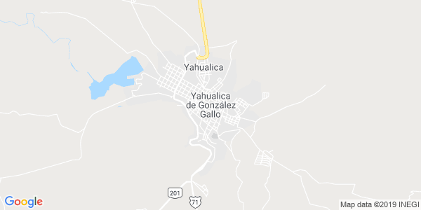 Mapa de YAHUALICA DE GONZ�LEZ GALLO