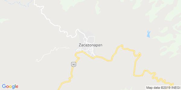 Mapa de ZACAZONAPAN