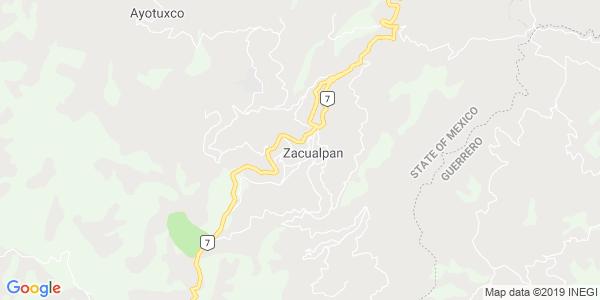 Mapa de ZACUALPAN
