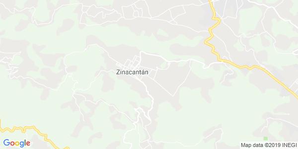 Mapa de ZINACANTÁN