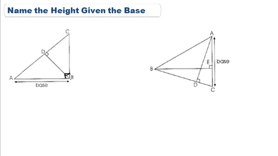 Area of a Triangle - Example 1