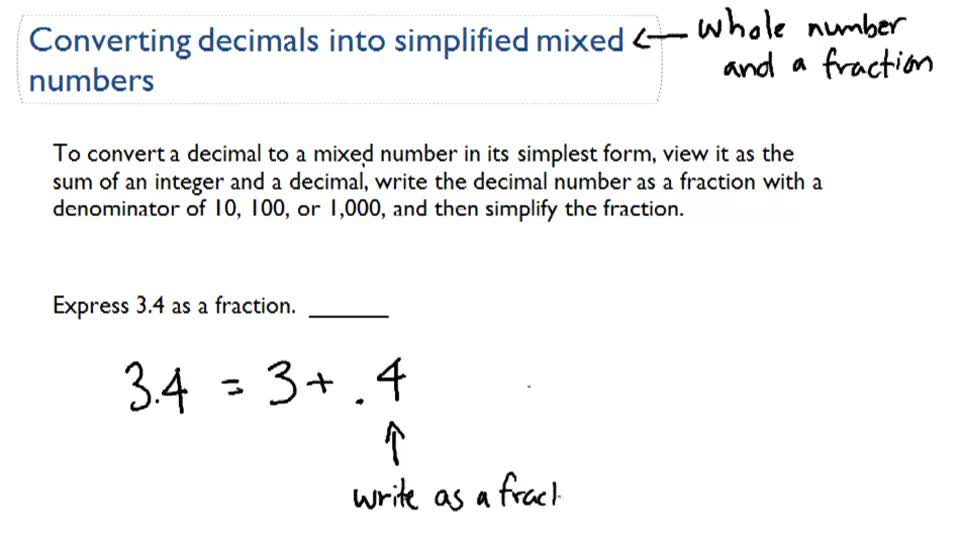 Decimals as Mixed Numbers | CK-12 Foundation