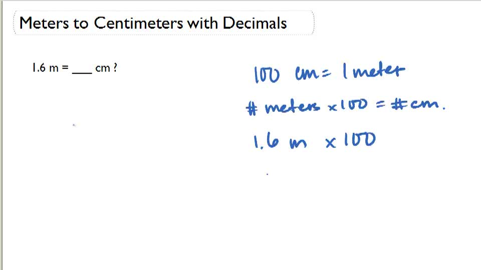 Measurement Conversions with Decimals - Example 1