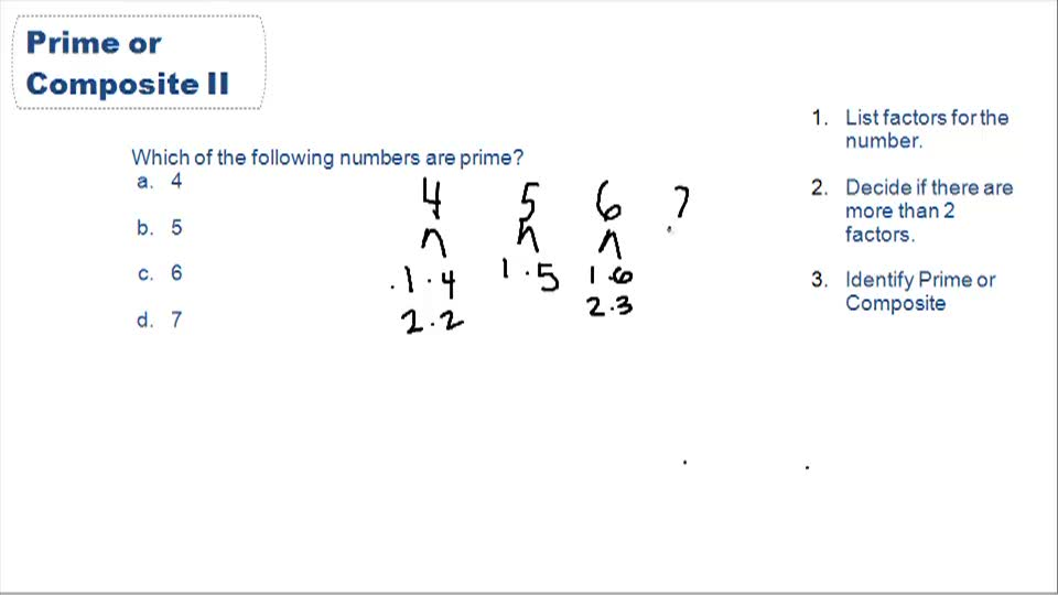 Prime & Composite Numbers - Example 1
