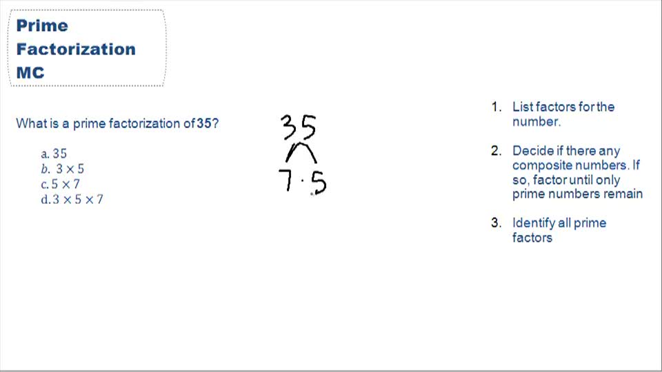 Prime factorization - Example 1