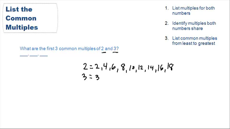 Common Multiples and Least Common Multiple (LCM) - Example 1