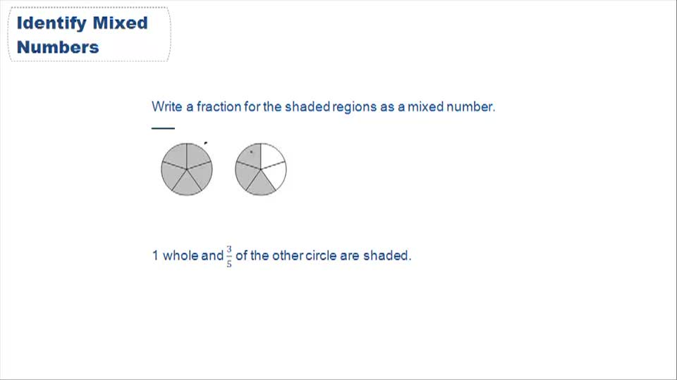 Identifying Mixed Numbers and Improper Fractions - Example 1