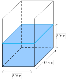 Find the volume of water in the rectangular tank - The volume of water in a swimming pool ...