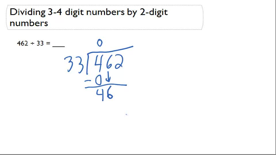 Long division without remainder - Example 1