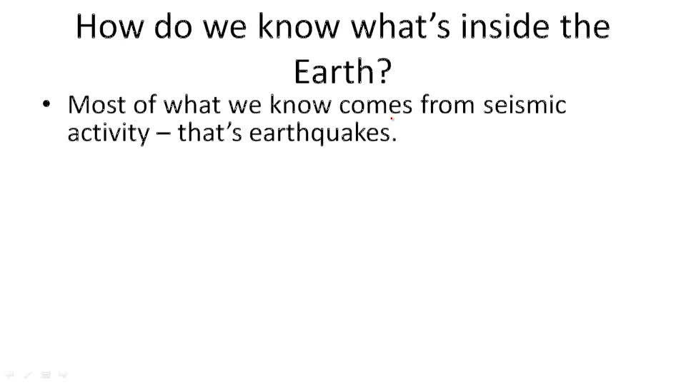 What's Inside the Earth - Example 1