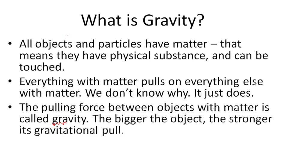 Gravity - Example 1