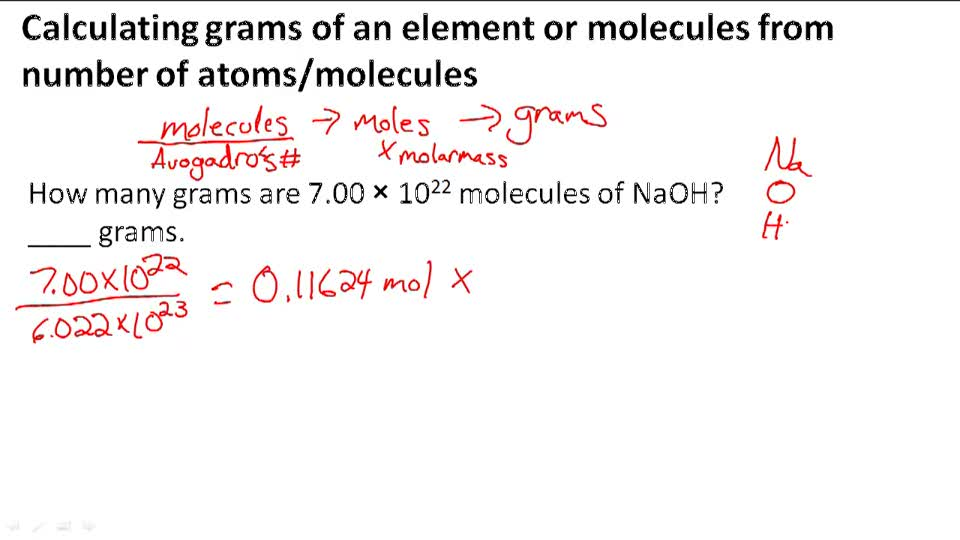 Combining the molar mass and mole concept - Example 2