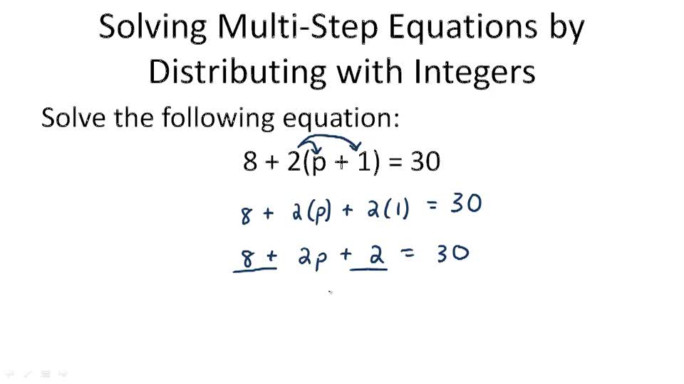 Distributive Property for MultiStep Equations Video – Solving Equations with Distributive Property Worksheet