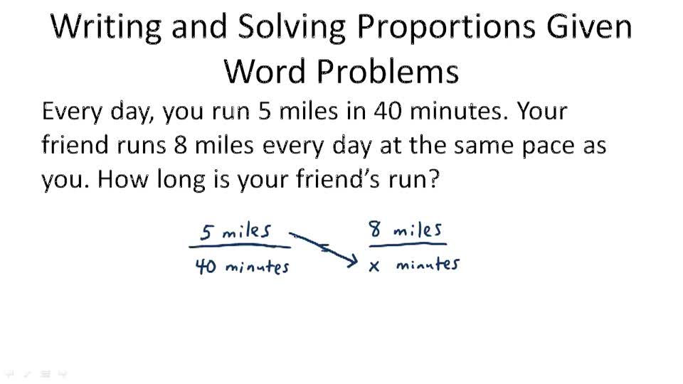 Ratio Proportion and Variation Video Algebra – Solving Proportions Word Problems Worksheet