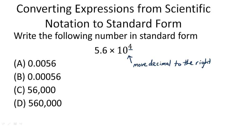 Scientific Notation Standard Form Dolapgnetband