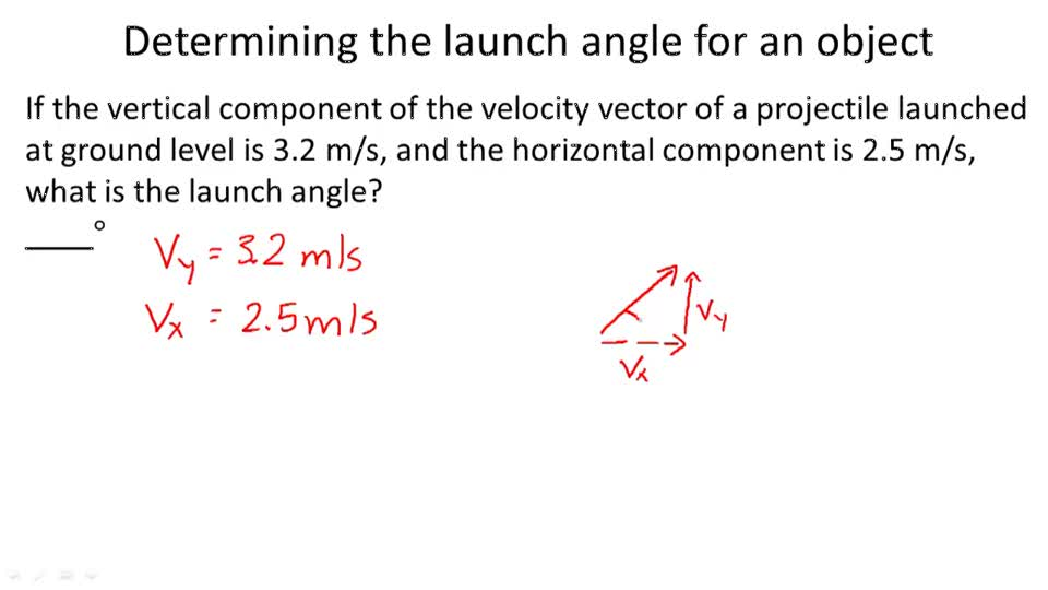 physics how to solve projectile motion problems from a ramp