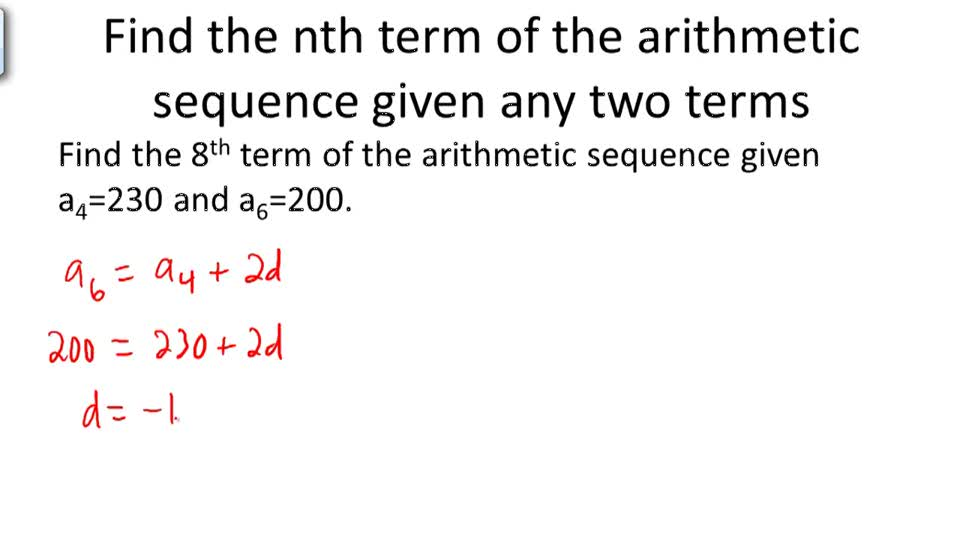 Arithmetic Sequences ( Video ) | Calculus | Ck-12 Foundation
