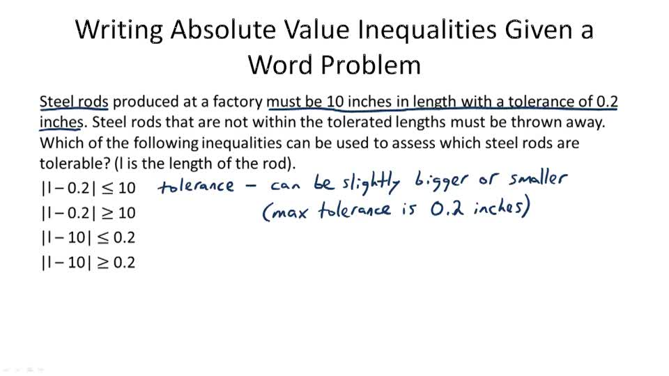 Graph And Solve Absolute Value Inequalities Video Algebra Ck