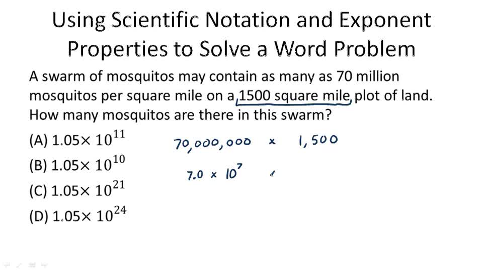 Operations with Numbers in Scientific Notation Video – Scientific Notation Operations Worksheet