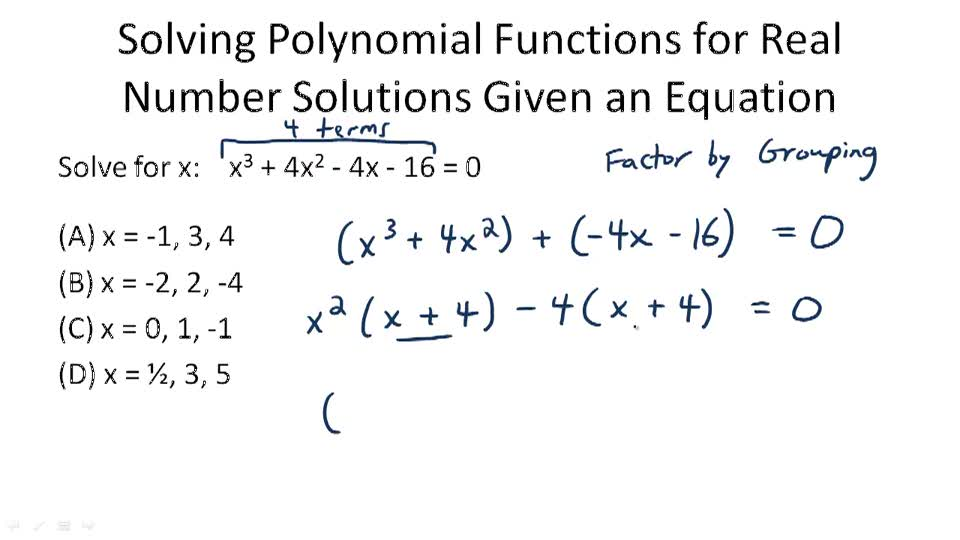 Polynomials and Factoring ( Video ) | Algebra | CK-12 Foundation