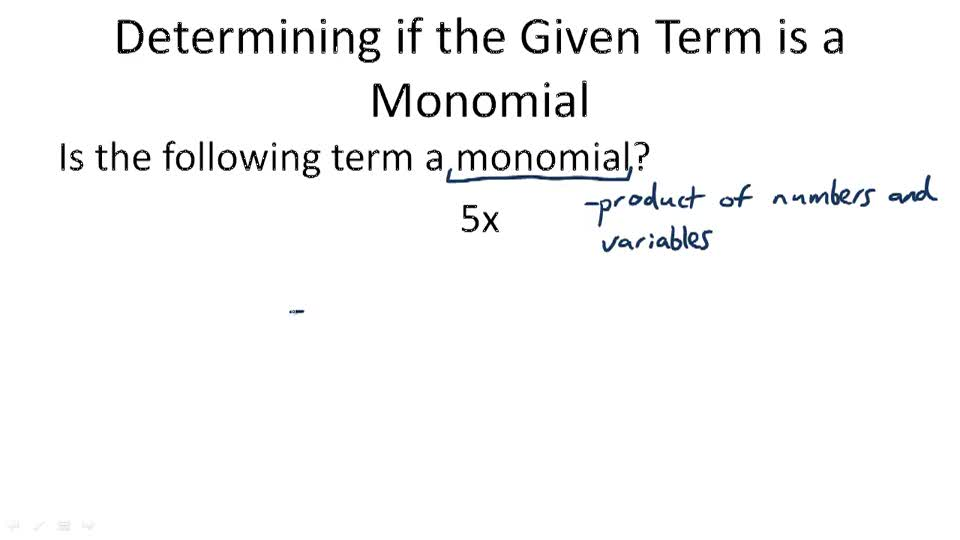 how to find the degree of a monomial