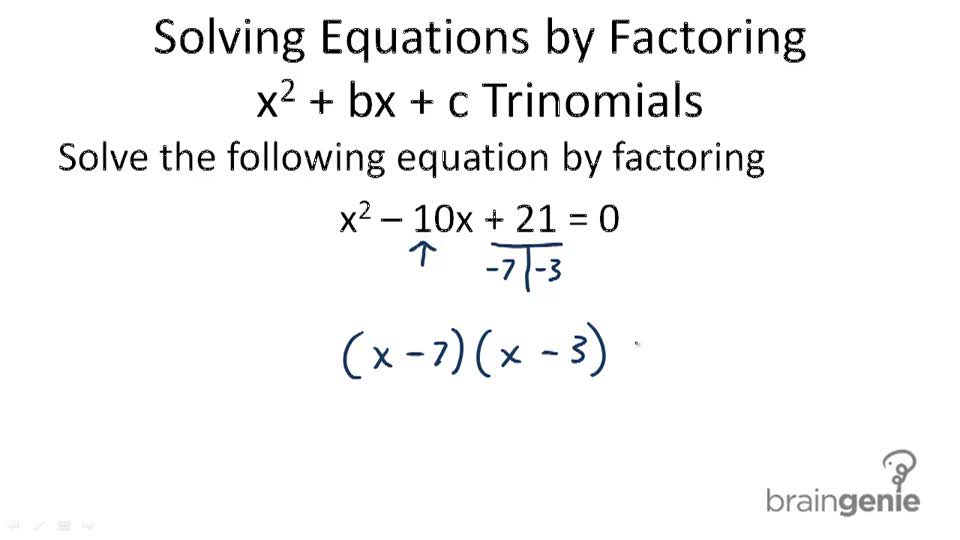 Solving Problems by Factoring | CK-12 Foundation