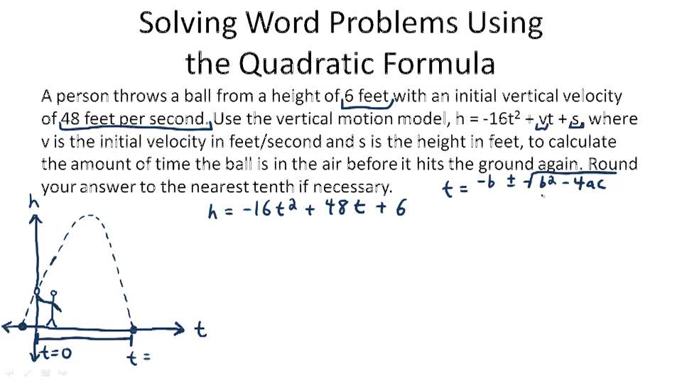 Math 1A/1B. Pre-Calculus: Quadratic Equation Word Problems :: UC ...