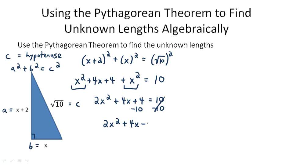 pythagorean theorem and its converse video algebra ck 12 foundation. Black Bedroom Furniture Sets. Home Design Ideas