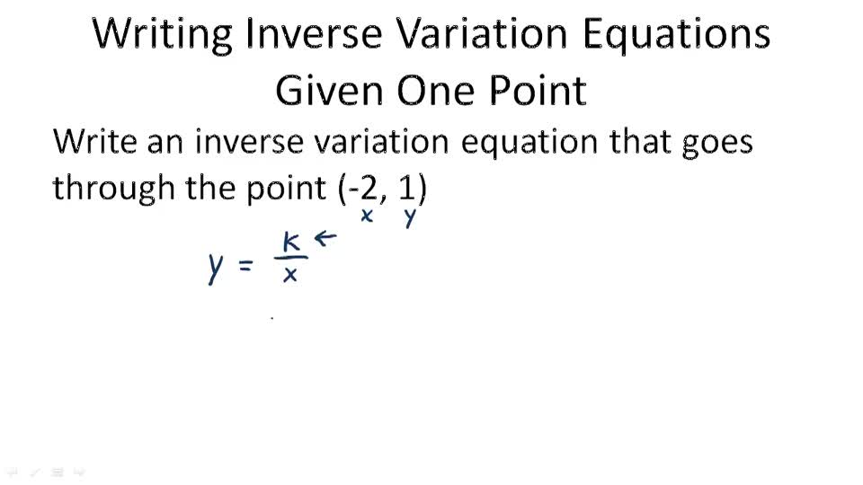 Inverse Variation Models | CK-12 Foundation